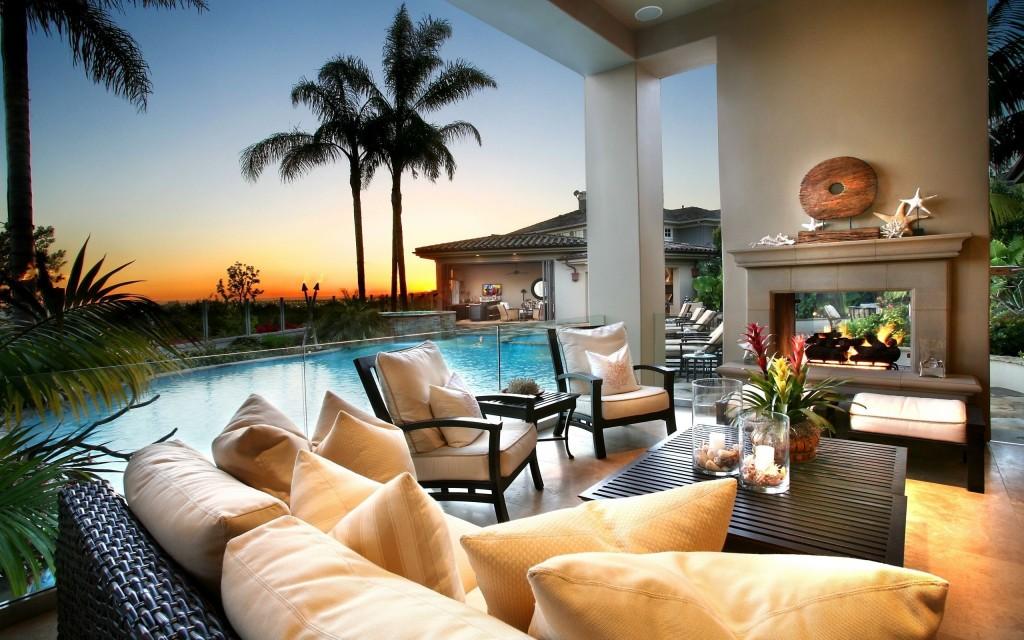 dnevna so bazen palmi