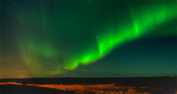 polarna svetlina zelena boja