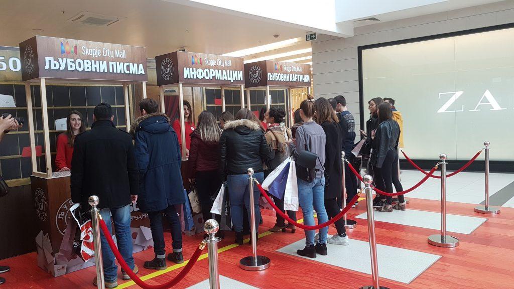 По повод Денот на вљубените над 1500 писма испратени преку Љубовната пошта на Скопје сити мол